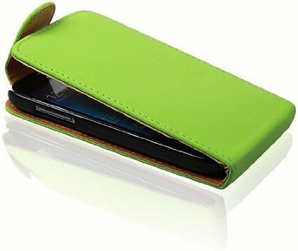 Samsung Galaxy S4 Mini GT-9190 9192 9195 funda con tapa para .. : verde::.. Funda con tapa: Amazon.es: Electrónica