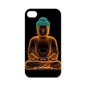 Special Buddhist Buddha Pattern iPhone 4 4S TPU(Laser Technology) Durable Back Case Shell - For iPhone 4 4S