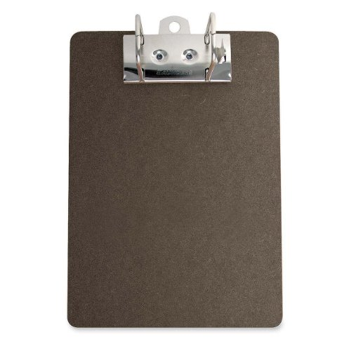 S.P. Richards Company Clipboard, Silver Arch with Lever, 2-1/2-Inch Cap., 9 x 13 Inches, Brown (SPR01382)
