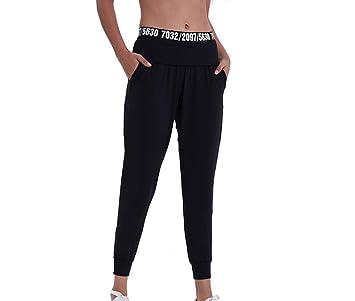 Imzoeyff Pantalones De Fitness Cintura Cartas Casual Sports ...