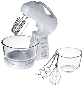 Toastmaster 1771 Electronic Stand Mixer with 2-Piece Glass Bowl Set