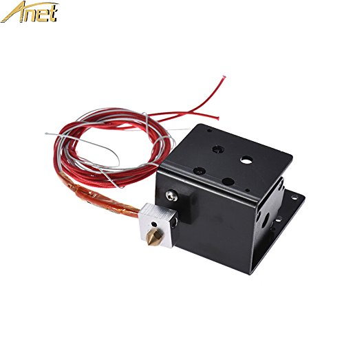 ANET MK8 Extruder Kit for ANET A8 3D Printer, i3 Extruder Set Including - Extruder Motor, Cartridge Heater Tube, Thermistor, Throat Tube, and 0.4mm Nozzle, Hot end Kit - Black by Anet