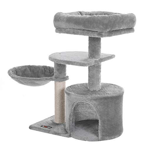 FEANDREA Cat Tree, Small Cat Tower, Condo, Scratching Post