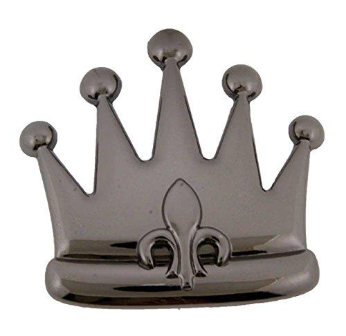 Crown Gothic Vintage Tribal Mens Womens Kings Queens Belt Buckles (Fleur de lis Flower Gun Metal Size: 4.5