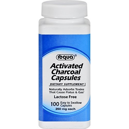 Requa Activated Charcoal - 260 mg - 100 Capsules by Requa