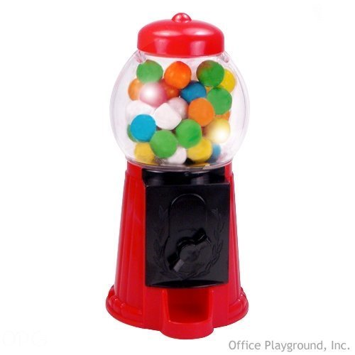 Gumball Machine 5 inch Plastic, Pre-Loaded