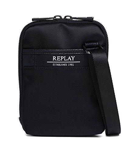 H Hombre Fm3348 T 1x20x15 Shoppers cm de a0127a Black 000 bolsos 5 REPLAY hombro y B x Negro fwR8aqfUd