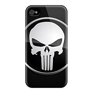 Anti-Scratch Hard Cell-phone Cases For Iphone 4/4s (Qbb18777efzx) Unique Design HD Punisher Logo Skin