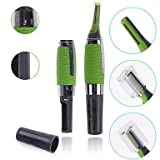 SHOPEE Micro Touch Max Personal Ear Nose Neck Eyebrow Hair Trimmer Remover - Green
