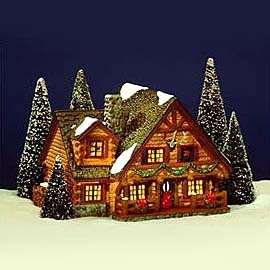 Dept 56 Snow Village Hunting Lodge 54453 by Department 56