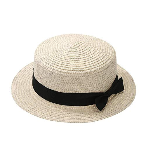 (LVGUMM Unisex European Fashion Sun Block Sunhat Travel Beaches Sun Cap Girl Sunscreen by The Seaside Grass Rope)