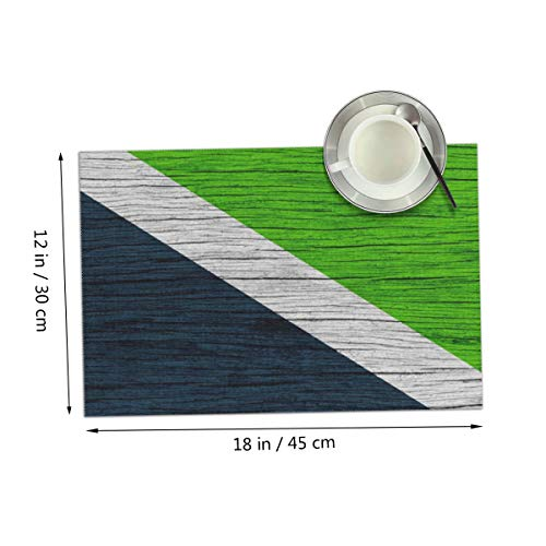Coolfun Wooden Texture Fargo City Flag Themed Print Pattern 4 Piece Set of Placemats Pc Party Kitchen Dining Room Home Table Place Mat Patio Holidays Decorations Decor Ornament -