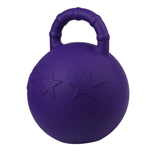 Kesoto 2Pcs Pony Bounce Jolly Ball Stable Field Toy Anti-Burst Horse Soccer Balls, Green and Purple by Kesoto (Image #8)