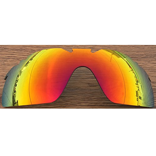 Inew Polarized Replacement lenses ForYour Oakley Radarlock XL Fire Ruby - Replacement Oakley Lenses Radarlock Xl