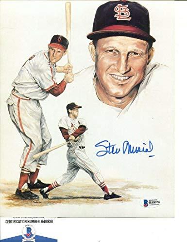 Stan Musial Signed Photo - Stan Musial Signed Photo 8x10 Autographed Cardinals Beckett BAS H48936 - Beckett Authentication - Autographed MLB Photos