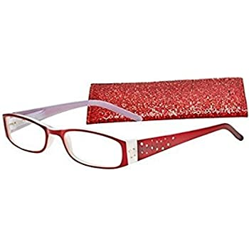371b846740 Amazon.com  Icu Red with Rhinestone Reading Glasses +2.00  Health ...