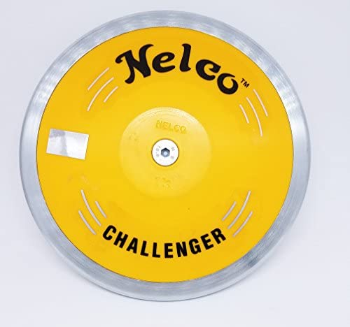 Nelco Discus with AuthenticホログラムロゴNelco Authentic Discus 1K定格55M / 165' -withスチールリムStrongイエローABSプレートThrow、プロのよう!