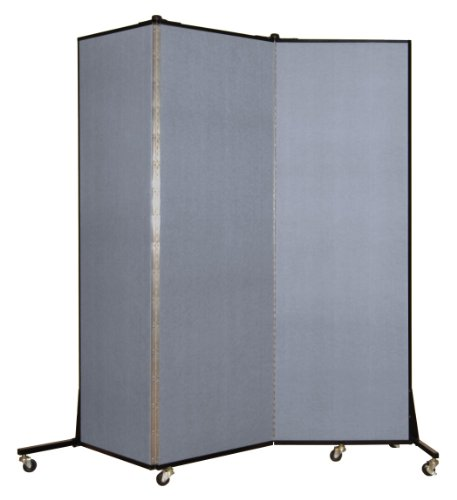 Screenflex BFSL683-BB Light Duty Portable Room Divider, 3 (Screenflex Portable Room Partition Dividers)