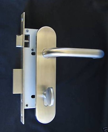 Institution Keyed Mortise Door Lock and Lever Trim Set with Profile Cylinder for Commercial Entrance Doors in Satin Stainless Steel Finish