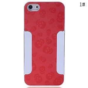 MOFY-Leather Skull de nuevo caso para el iPhone 5/5S (colores surtidos) , Rojo