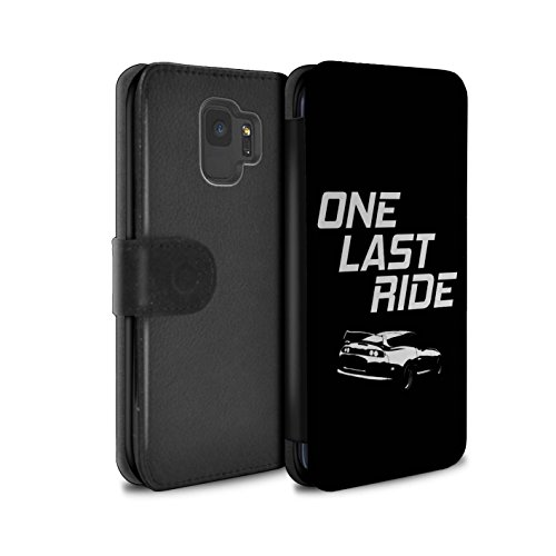 STUFF4 PU Leather Wallet Flip Case/Cover for Samsung Galaxy S9/G960 / One Last Ride Design/Street Car Racing Collection