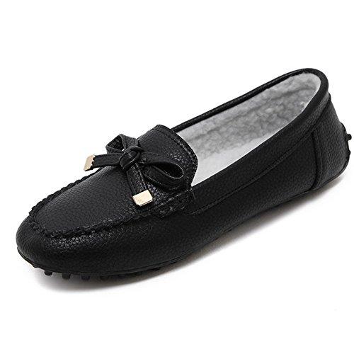 Inconnu 1To9 Sandales Compensées Femme Noir, 38.5 EU, MMSG00275