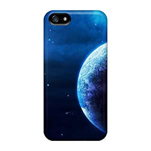 Iphone 5/5s Cases Slim [ultra Fit] Blue Outer Space Planets Protective Cases Covers