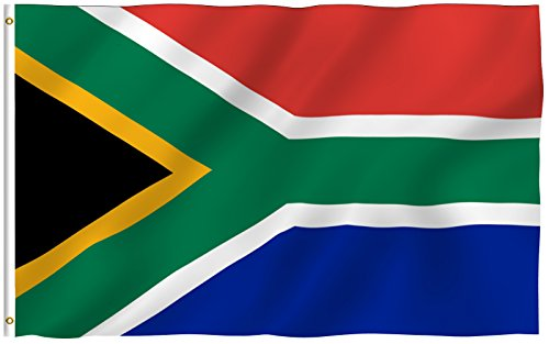 ANLEY [Fly Breeze] 3x5 Foot South Africa Flag - Vivid Color and UV Fade Resistant - Canvas Header and Double Stitched - South African National Flags Polyester with Brass Grommets