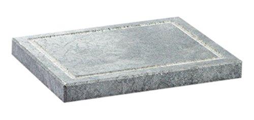 Grey 7.9 x 6.3 Bisetti BT-99043 Rectangular Cooking Stone