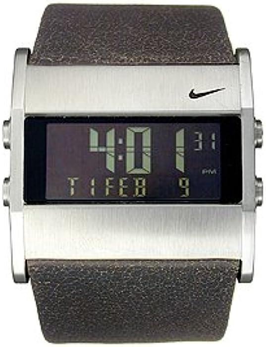 pretty nice 9e4e8 8abf4 Nike Mens WA0038-213 Oregon Series Square Digital Leather Watch