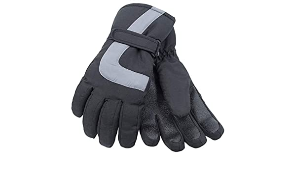 RJM Childrens Black Thinsulate Thermal Ski Gloves 10-11 Years