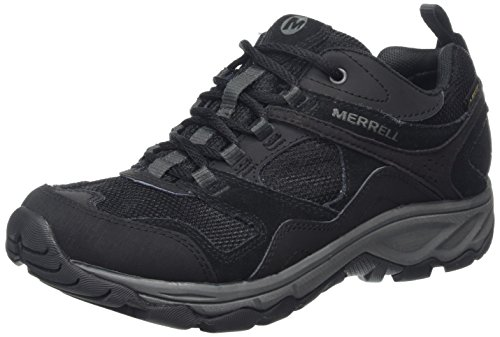 Merrell WoMen Black Low Rise Hiking Shoes Black (Black)