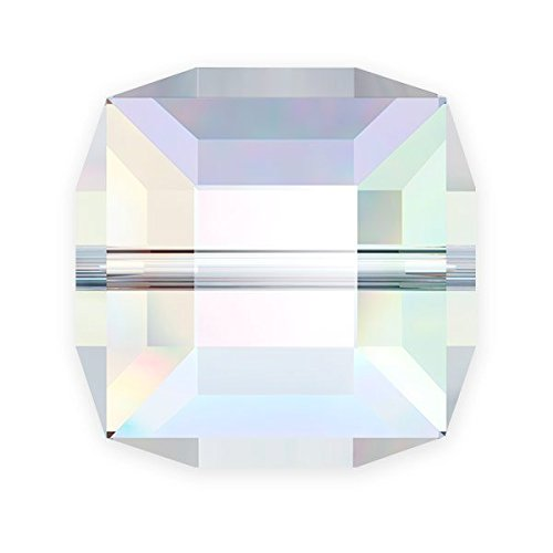 Swarovski Cube Beads 5601 6mm Crystal AB (Package of ()