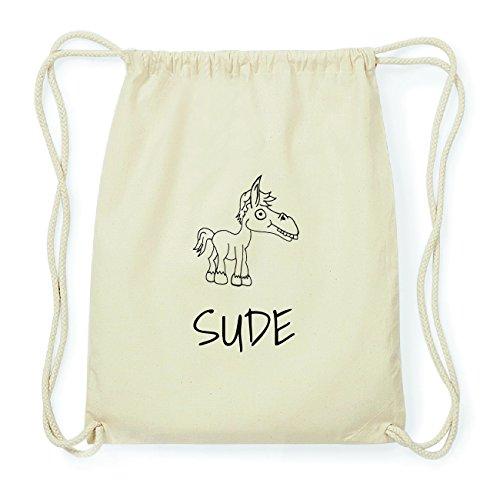 JOllipets SUDE Hipster Turnbeutel Tasche Rucksack aus Baumwolle Design: Pferd