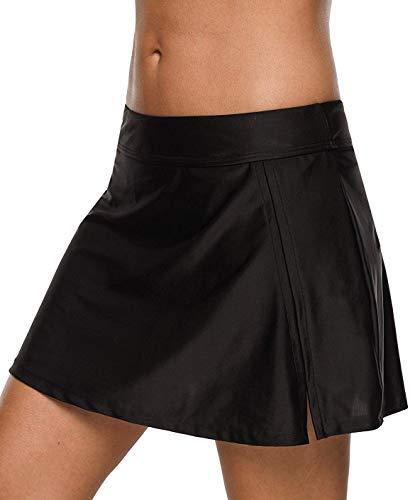 CharmLeaks Womens Skirted Swimsuit Bottoms Modest Swimwear Black Skirt Bathing Suit ()