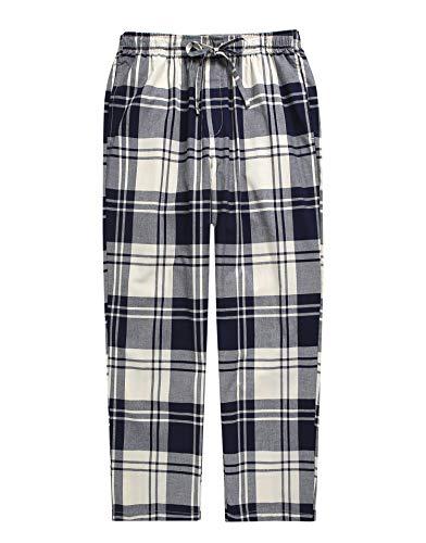 (TINFL Boys Plaid Check Soft 100% Cotton Lounge Pants)