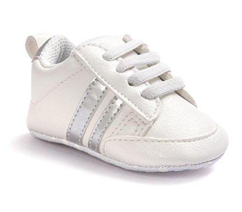 White Stripe Infant Shoe - 8