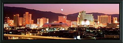 Easy Art Prints Panoramic Images's 'Reno, Nevada, USA' Premium Framed Canvas Art - 24