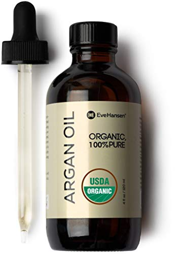 Organic Moroccan Argan Oil by Eve Hansen - USDA Certified Moisturizing Pure Argan Oil For Skin, Hair, and Nails - 4 Ounces (Oil Argan Treatment)