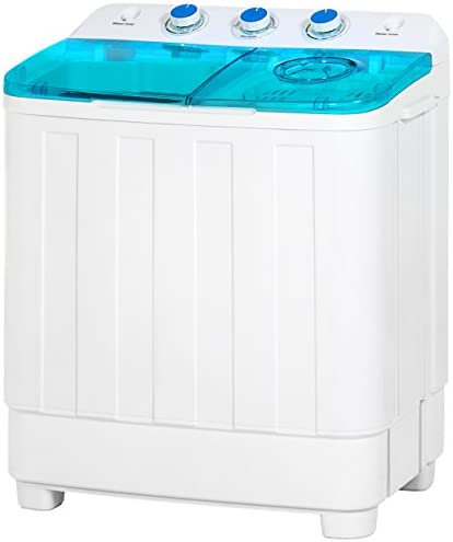 Best Choice Products Mini Twin Tub Portable Compact Washing Machine Spin Dry Cycle- 12lbs Capacity Washer