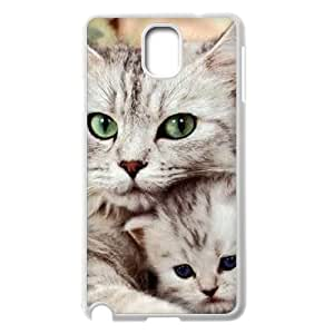 Diy Beautiful Cute Little Cat Custom Cover Phone Case for samsung galaxy note 3 White Shell Phone [Pattern-3]