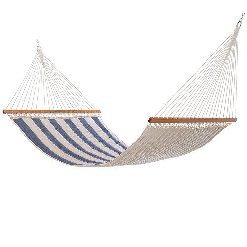 Island Hammock Stand - Pawleys Island Hammocks Large Quilted Sunbrella Fabric Hammock - Regency Indigo