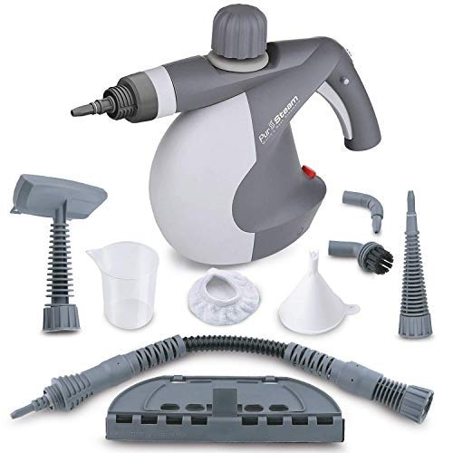 PurSteam World's Best Steamers Chemical-Free Cleaning Pressurized Cleaner with 9-Piece Accessory Set Purpose and Multi-Surface All Natural, Anthracite ()