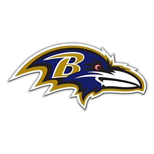 "Fremont Die NFL Shop Authentic 12"" Magnet Team Banner Helmet/Logo (Baltimore Ravens Logo)"