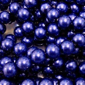 A1035 Cobalt Blue k2-accessories 100 pieces 8mm Glass Pearl Beads