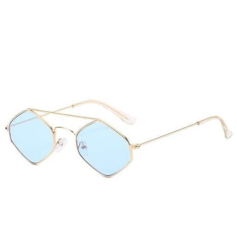 Yangjing-hl Gafas de Sol de Caja pequeña Personalidad ...