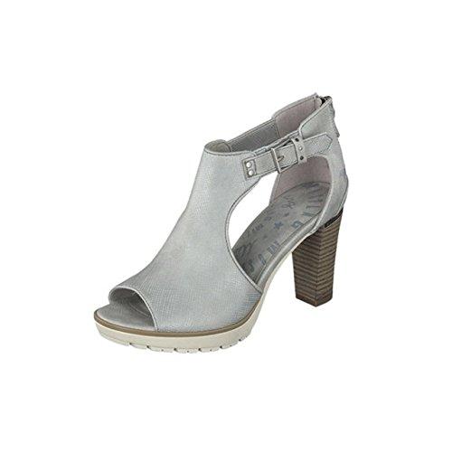 Mustang Women's Fashion Sandals Silber