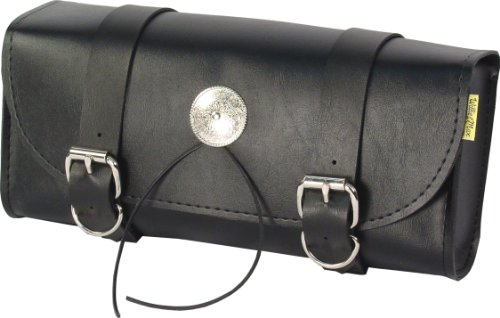 Deluxe Synthetic Leather - Dowco Willie & Max 58100-01 Deluxe Series: Synthetic Leather Motorcycle Tool Pouch, Black, Universal Fit, 2.5 Liter Capacity