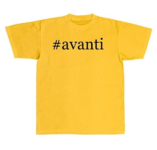 Avanti Gear (#avanti - New Adult Men's Hashtag T-Shirt, Yellow,)