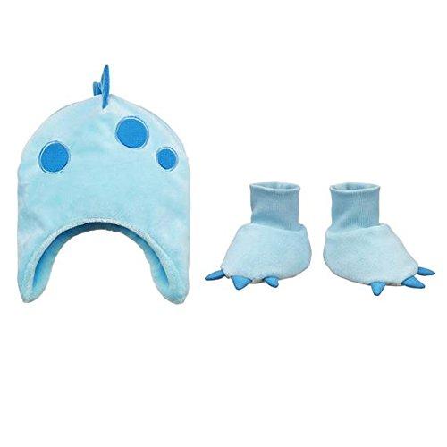 Costumes Finder (Ganz Baby Hat & Slippers Set, 3-6 Months, Dino)